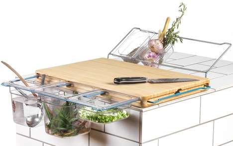 Multifunctional Kitchen Workbenches - This Handy Workbench Contains a Number of Kitchen Accessories