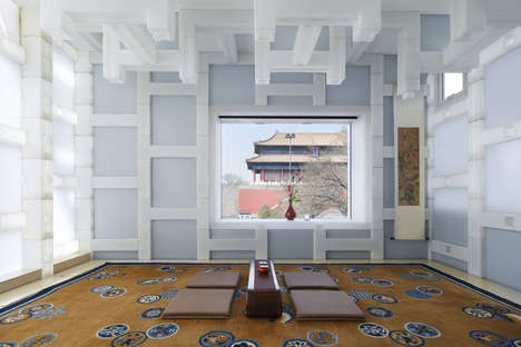 Contemporary Plastic Tea Houses - This Members-Only Tea House is Made of Plastic Blocks