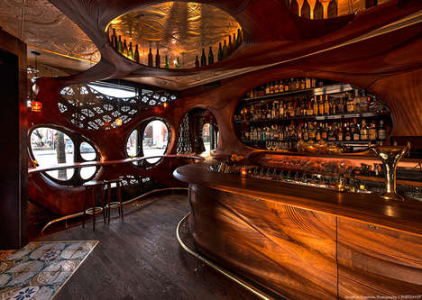 Curvaceous Wooden Bars - Toronto's Bar Raval is Inspired by Spanish Art Nouveau Design