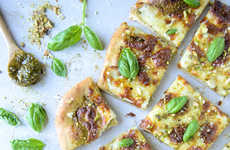 Pistachio Pesto Pizzas - This Nutty Pizza Recipe Does Not Contain Any Fresh Tomatoes or Sauce