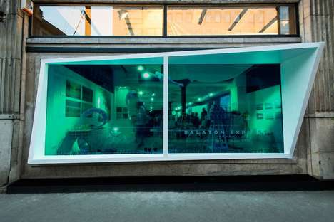 Shark-Infested Storefront Windows - This Aquarium Window in Budapest Was Designed by KISSMIKLOS
