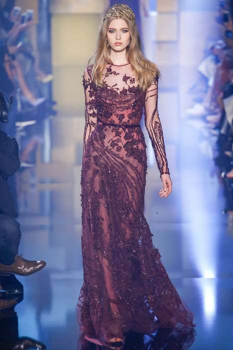 Moody Medieval Fashions - Elie Saab's Latest Dress Collection Channels a Dark Princess Mystic