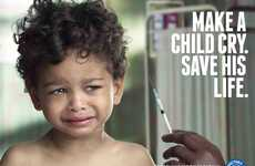 Sobbing Children Ads - This Ad For the #MakeAChildCry Campaign Promotes Healthcare Among Youth