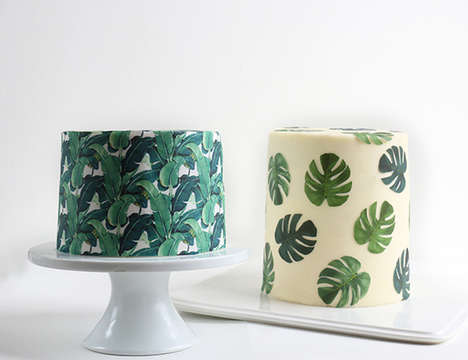 Tropical Wallpaper Cakes - Baker Alana Jones -Mann Creates Immaculately Designed Desserts