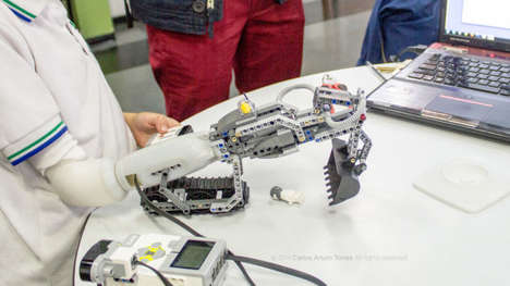 LEGO-Compatible Prosthetics - This Mechanical Arm Allows Children to Design Custom LEGO Creations