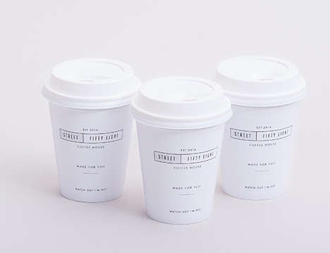 Whiteout Coffee Packaging - Street Fifty Eight is an Australian Java Brand with Minimalist Branding