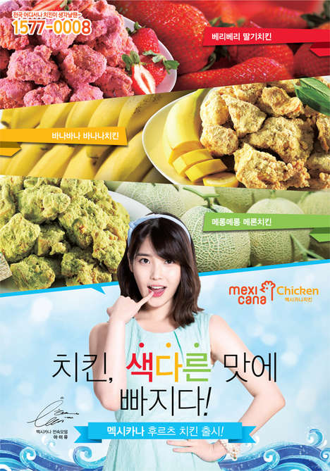 Fruit-Flavored Fried Chicken - This Bizarre Chicken Dish Comes in Three Different Fruit Flavors