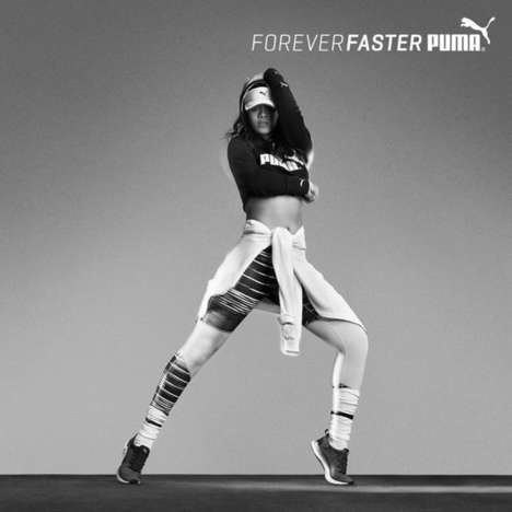 Sultry Sportswear Spreads - These Ads for Puma's #ForeverFaster Campaign Feature Artist Rihanna