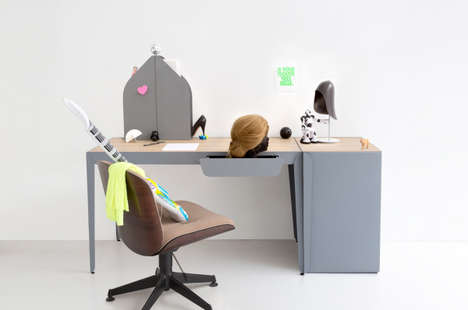 Sleek Functional Furniture - The Loop Lamp and Flamingo Desk are Constance Guisset's Latest Designs