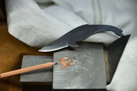 Whale-Shaped Chef Knives - The Kurouchi Kujira Knives are Adorably Crafted Out of Carbon Steel
