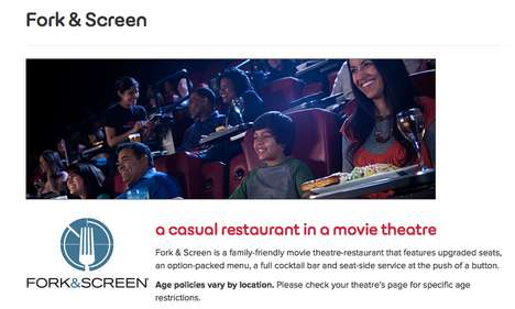 Family-Friendly Dine-In Theaters - The AMC Theaters 'Fork & Screen' is Designed for All Ages
