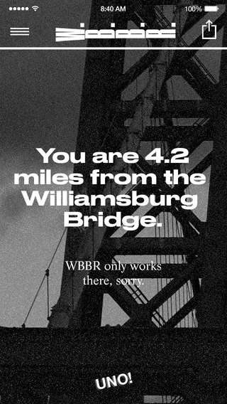 Motivational Radio Stations - This Music Station is Only Accessible on the Williamsburg Bridge