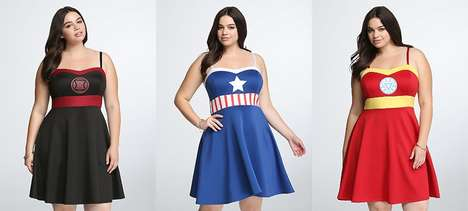 Superhero Clothing Collaborations - These Marvel Avengers Dresses are Now Available in Plus Sizes