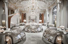 Luxuriously Reflective Restaurants - Jouin Manku Designs an Opulently Futuristic Dining Interior