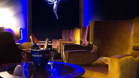 Gourmet Movie Theater Menus - The EuropaCorp First Class Cinema Serves Caviar and Champagne