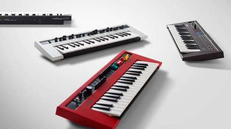 Retro Modern Keyboards - These Mini Yamaha Keyboards Blend Power and Portability