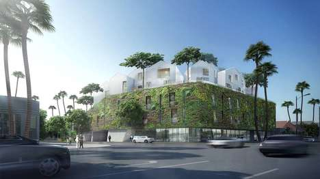 Living Wall-Sheathed Villages - The 8600 Willshire Community Will Be Wrapped In a Living Wall