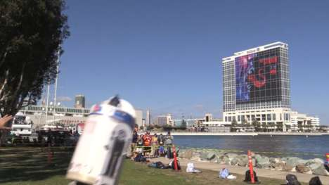 Galactic Sci-Fi Drones - This Flying R2-D2 Took Flight During a Comic-Con Drone Stunt