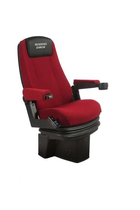 Motion-Enhanced Cinema Seats - The D-Box Seats Make Movie-Viewing More Immersive