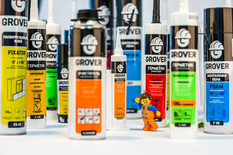 Cartoon Chemical Containers - This Chemical Brand Uses LEGO Men & Bold Colorful Labels