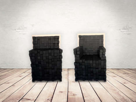 Customizable Block Furniture - These Innovative Seats are Made from Adjustable Foam Bars