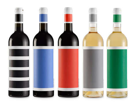 Colorblocked Wine Bottles - Djurdjic Winery's Unique Wine Bottles are Branded with a Single Color