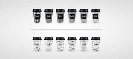 Coffee Order-Mimicking Cups - These Coffee Packages are Black or White Based on the Drinker's Choice