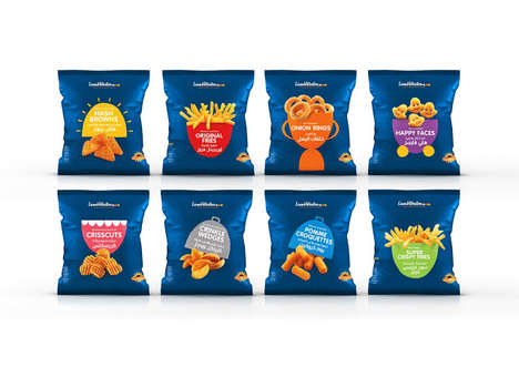 Pictorial-Labeled Fry Bags - This Frozen Fry Company Bags its Products with Fun Descriptive Images