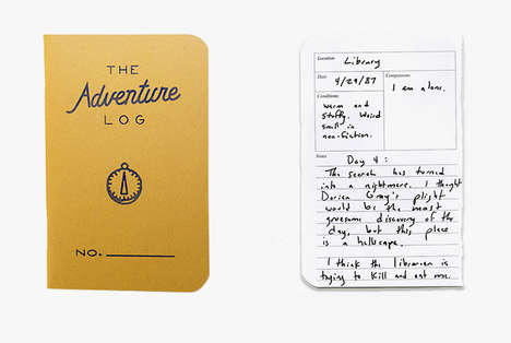 Adventure-Logging Notebooks - The Adventure Log Notebook is Targeted Towards Outdoorsy Note-Keepers
