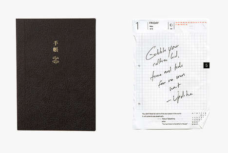 Versatile Japanese Notebooks - The Hobonichi Techo Planner Caters to Every Note-Taking Approach