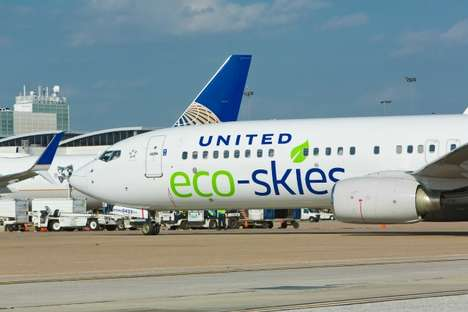 Biofuel-Powered Planes - United Airlines Flights Will Run on Eco Fuel Made from Food Scraps & Waste
