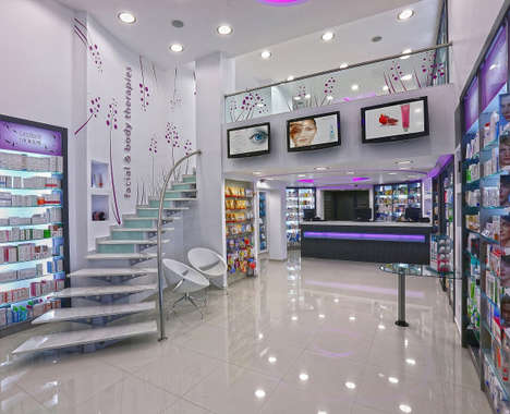 Futuristic Pharmacy Interiors