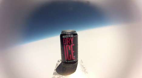 Celestial Beer Cans - Moosehead Launches a Simple Beer in Space in a Showstopping Way
