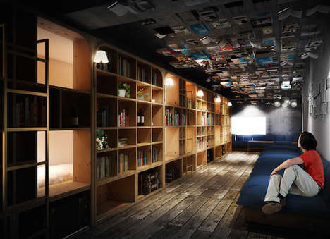 Hybrid Bookstore Hotels - Book and Bed Tokyo Introduces a New Play on 'B&B' Accomodations