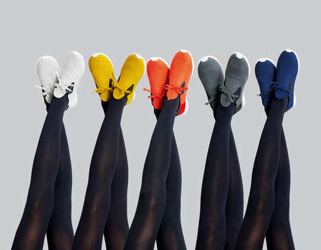 Moccasin-Inspired Sneakers - These Vibrantly Colored Pleated Female Kicks are Cruelty-Free