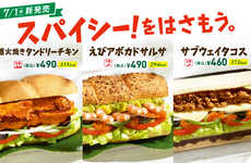 Taco-Inspired Sandwiches - This New Submarine Sandwich Features Traditional Taco Toppings