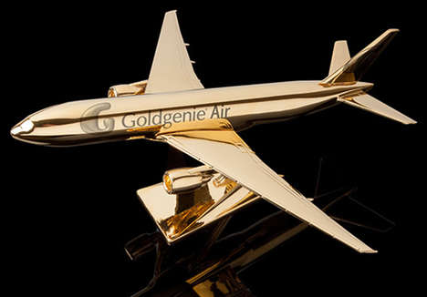 Glamorous Gilded Airplanes - The Goldgenie 'Aviators Dream' Model Airplane is Made of 24 Carat Gold