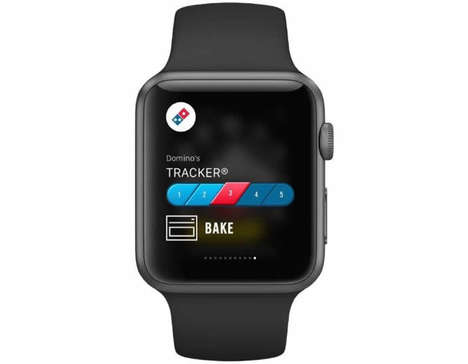 Pizza-Tracking Apps - Domino's Apple Watch App Helps the Hungry Track an Incoming Pizza Order