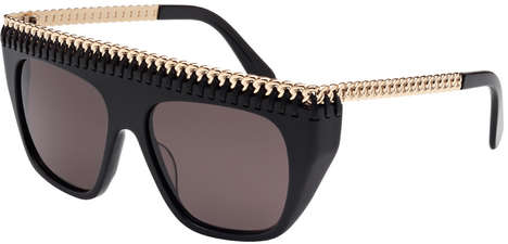 Chain Link Sunglasses - The Stella McCartney Winter Eyewear Collection Features Chic Chain Detail