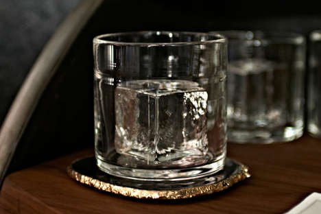 Ice Cube-Infused Tumblers - These Chic Handblown Glasses Feature Built-In Ice Cubes
