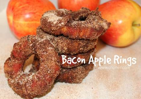 Bacon Apple Rings - This Re-Designed Onion Ring Combines Sweet Fruit with Crispy Smoked Meat