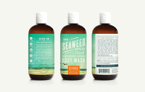 Beachy Bubble Bath Branding - The Seaweed Bath Co is Inspired by the Coast of Maine