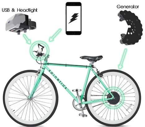 Device-Charging Bicycles - This Bike-Powered Charger Allows Users to Take Their Gadgets Anywhere