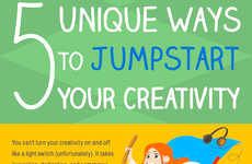 Creativity-Boosting Tips - This Infographic Offers a Strategy to Jumpstart Your Creativity