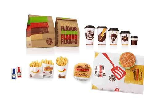Hand-Printed Burger Branding - This New Burger King Packaging Will be Launched in Eateries Worldwide