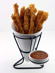 Spaghetti French Fries - This Inventive Deep Fried Spaghetti Recipe From DudeFoods Look Like Strips