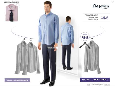 Virtual Fitting Rooms - This Two-Way Technology Allows Customer to Visualize How a Garment May Fit