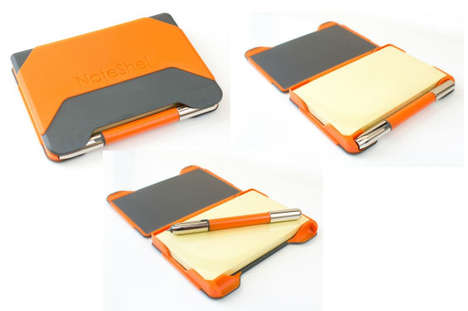Sticky Pad Notebooks - NoteShel's Case Provides a Sturdy Support for Sticky Note-Taking