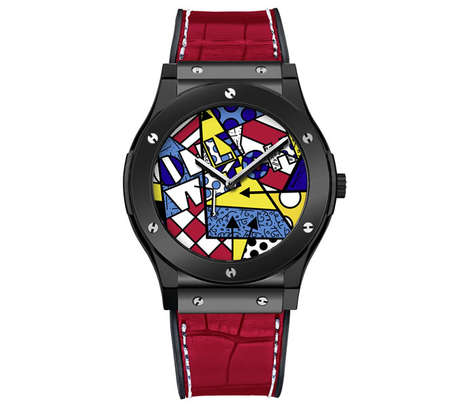 Luxurious Neo-Pop Watches - This Hublot Classic Fusion Watch Features Artwork by Romero Britto