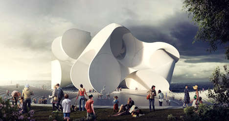 Manipulated Sphere Buildings - This Circular Architecture Design was Inspired by Cirque du Soleil